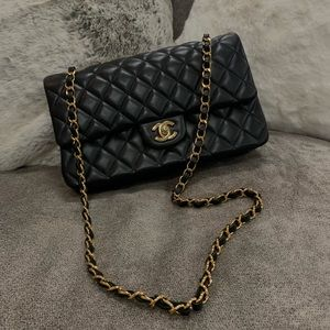 Authentic Black CHANEL Handbag Purse